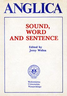 Anglica 3: Sound, word and sentence