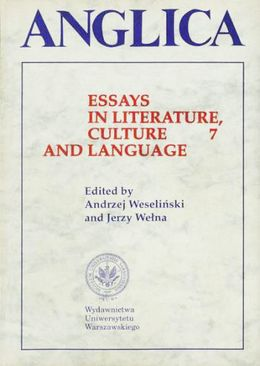 Anglica 7: Essays in literature, culture and language