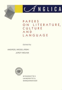 Anglica 8: Papers on literature, culture and language