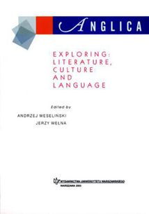 Anglica 13: Exploring: literature, culture and language